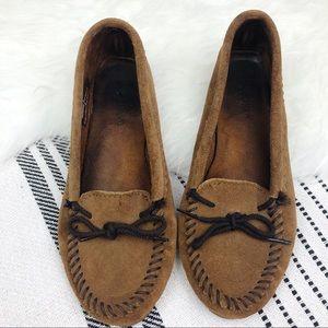 MINNETONKA Moccasin Loafer Flats, Size 8